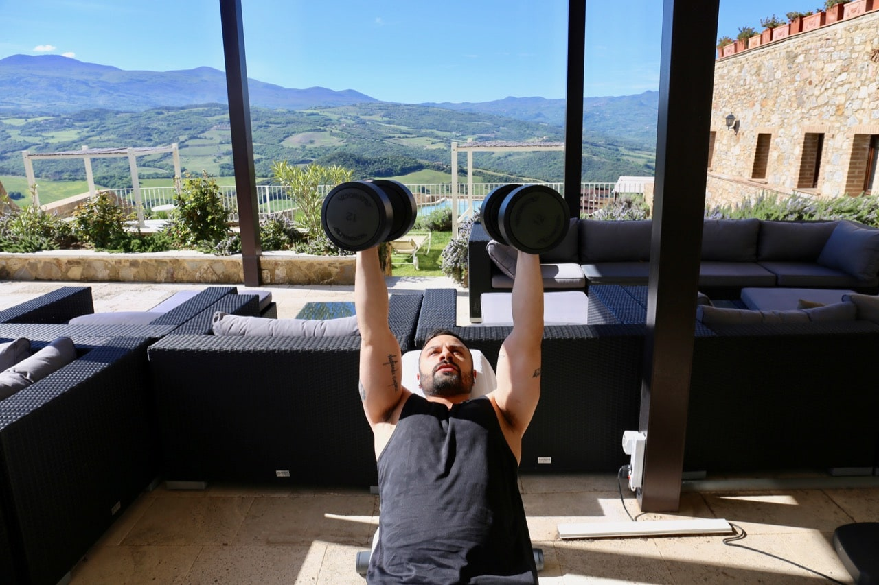 Enjoy a morning workout with a Tuscany view at the hotel's world class gym.