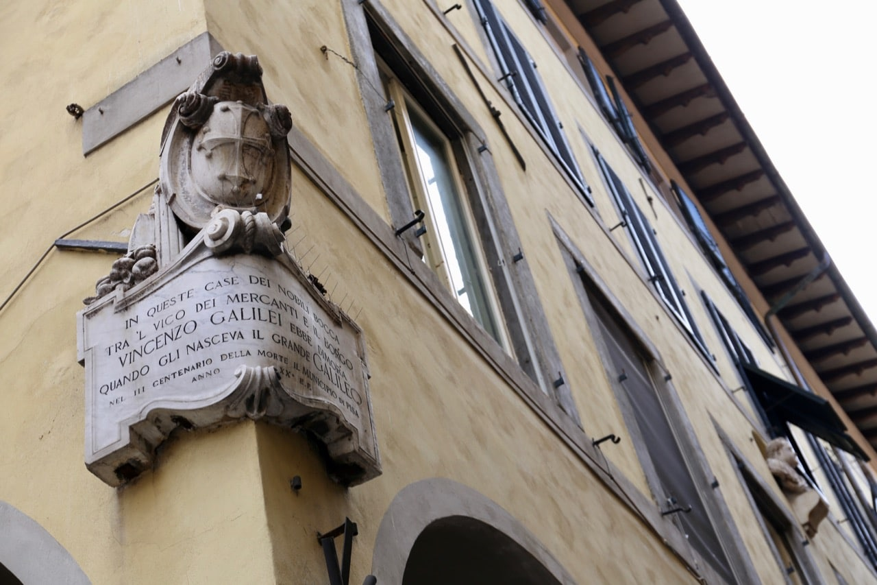History buffs can visit the birthplace of Galileo Galilei.