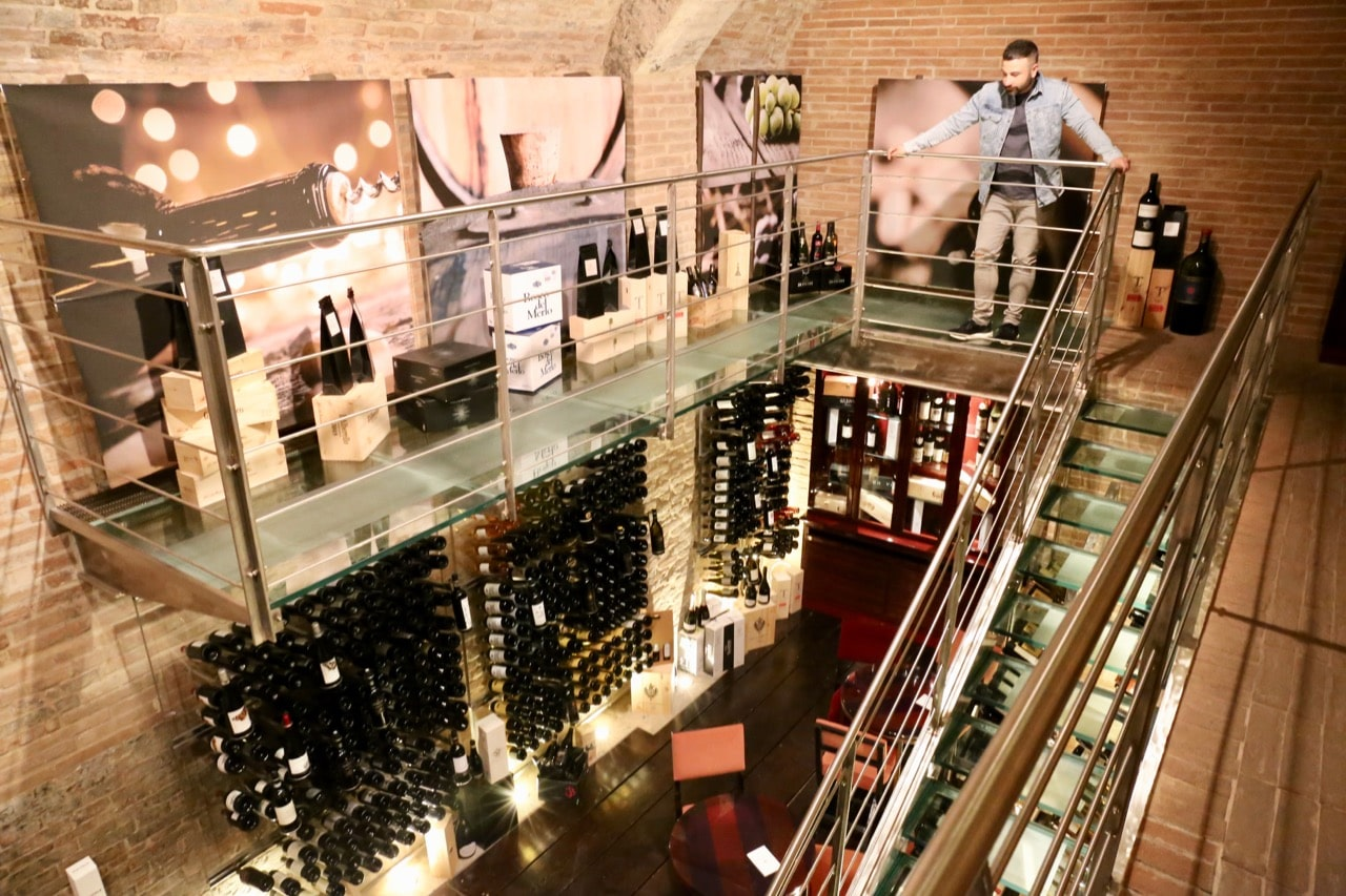 Wine lovers staying at Grand Hotel Continental Siena should ask for a tour of the impressive cellar.
