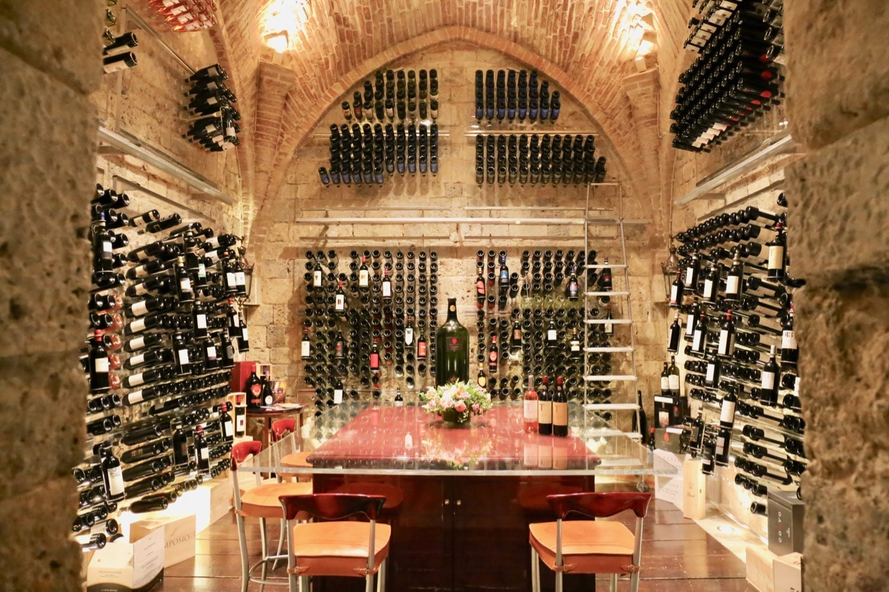 Oenophiles visiting Siena should book a tasting at Wine Cellar by Sapordivino.
