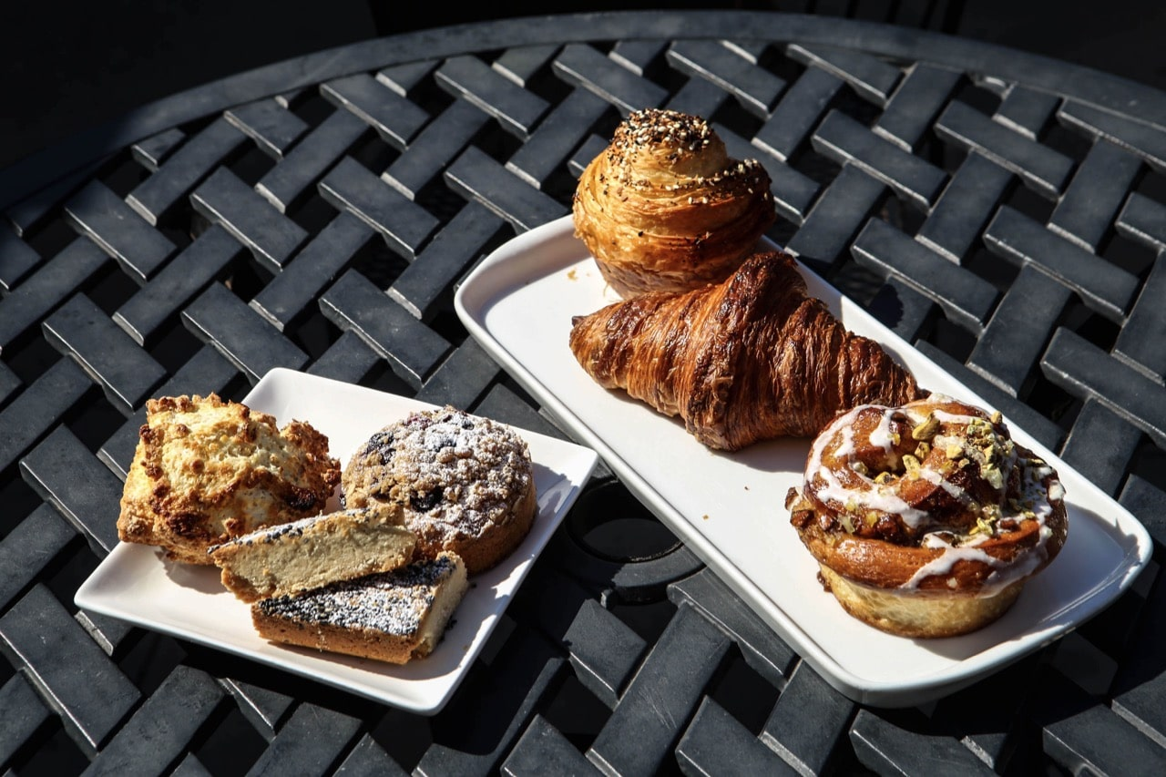 Freshly baked artisanal pastries at Revel Cafe in Stratford.
