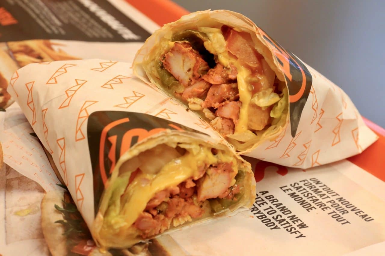 Centrale Bergham's Mex Wrap is stuffed with Tandoori chicken, jalapenos and cheddar cheese.