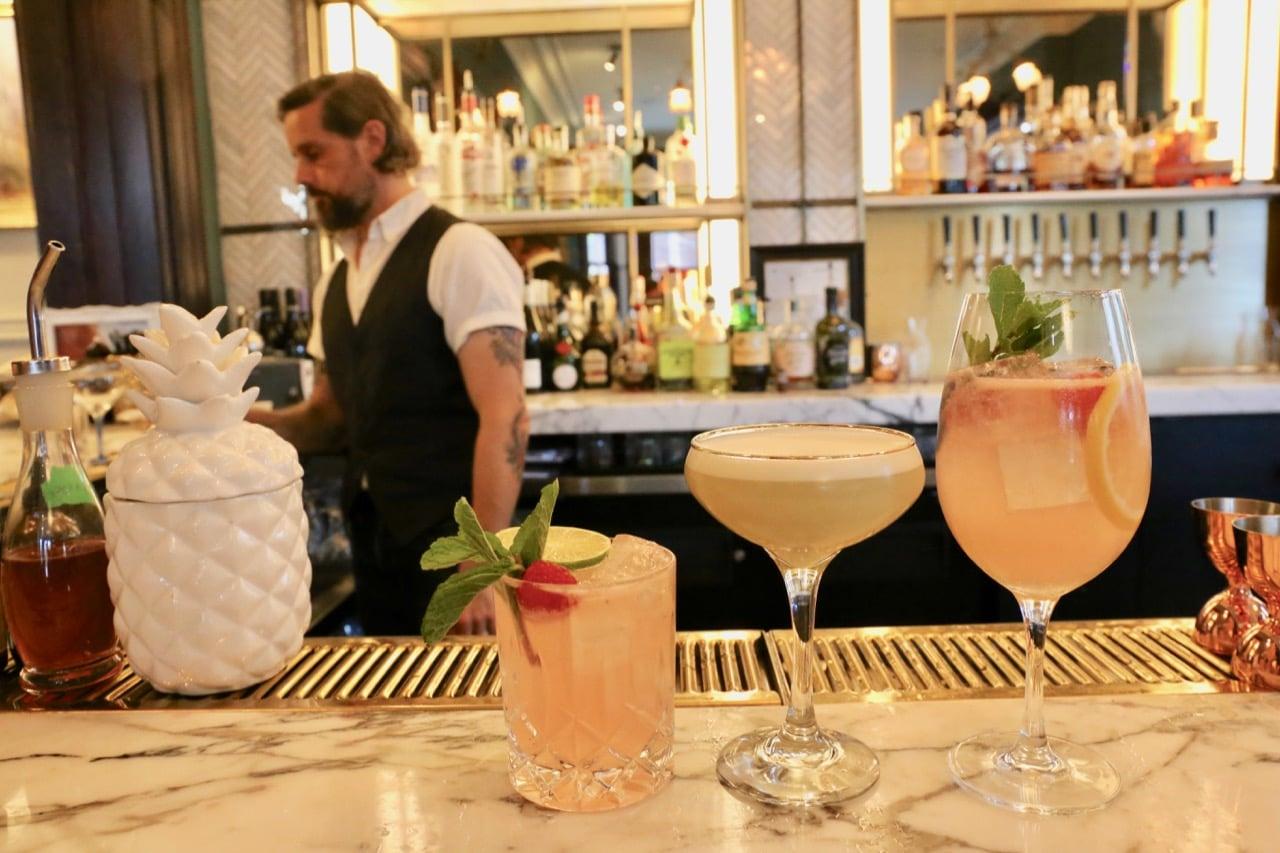 Visit the vintage bar at Maison Selby and watch bartenders shake up cocktails.