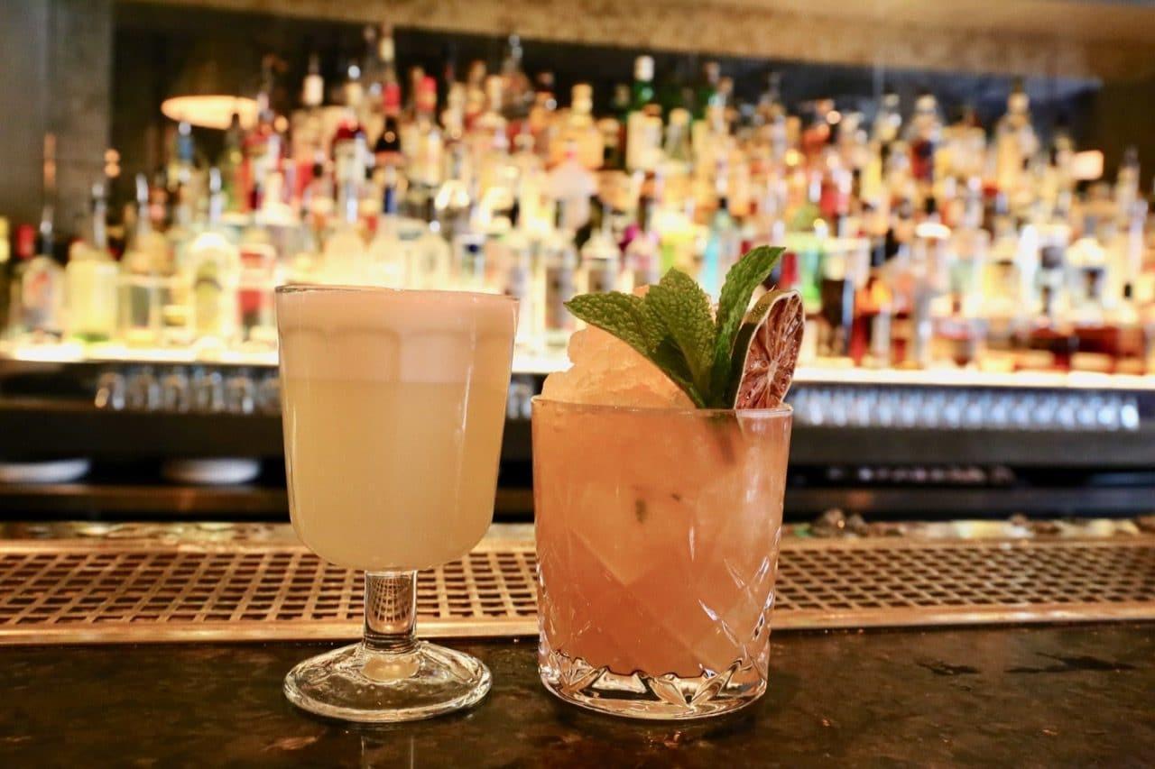Peruvian inspired crack cocktails at the Mira Toronto bar.