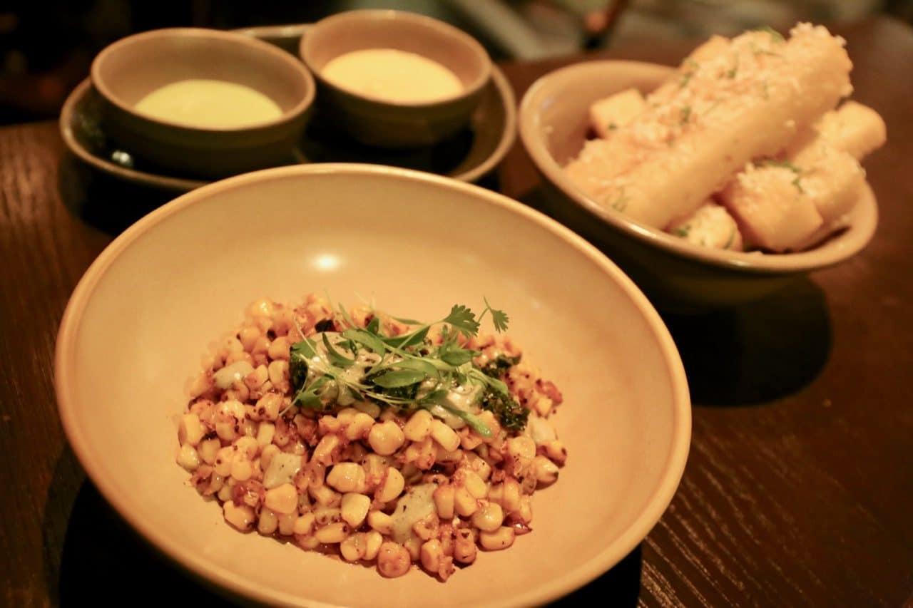 Mira Toronto's crunchy Yucca Fries and Maize with aji limo aioli.