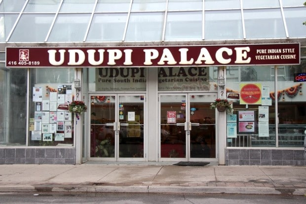 Udupi Palace is a South Indian vegetarian restaurant in Toronto.