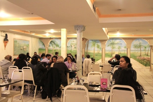 The dining room at Udupi Palace.