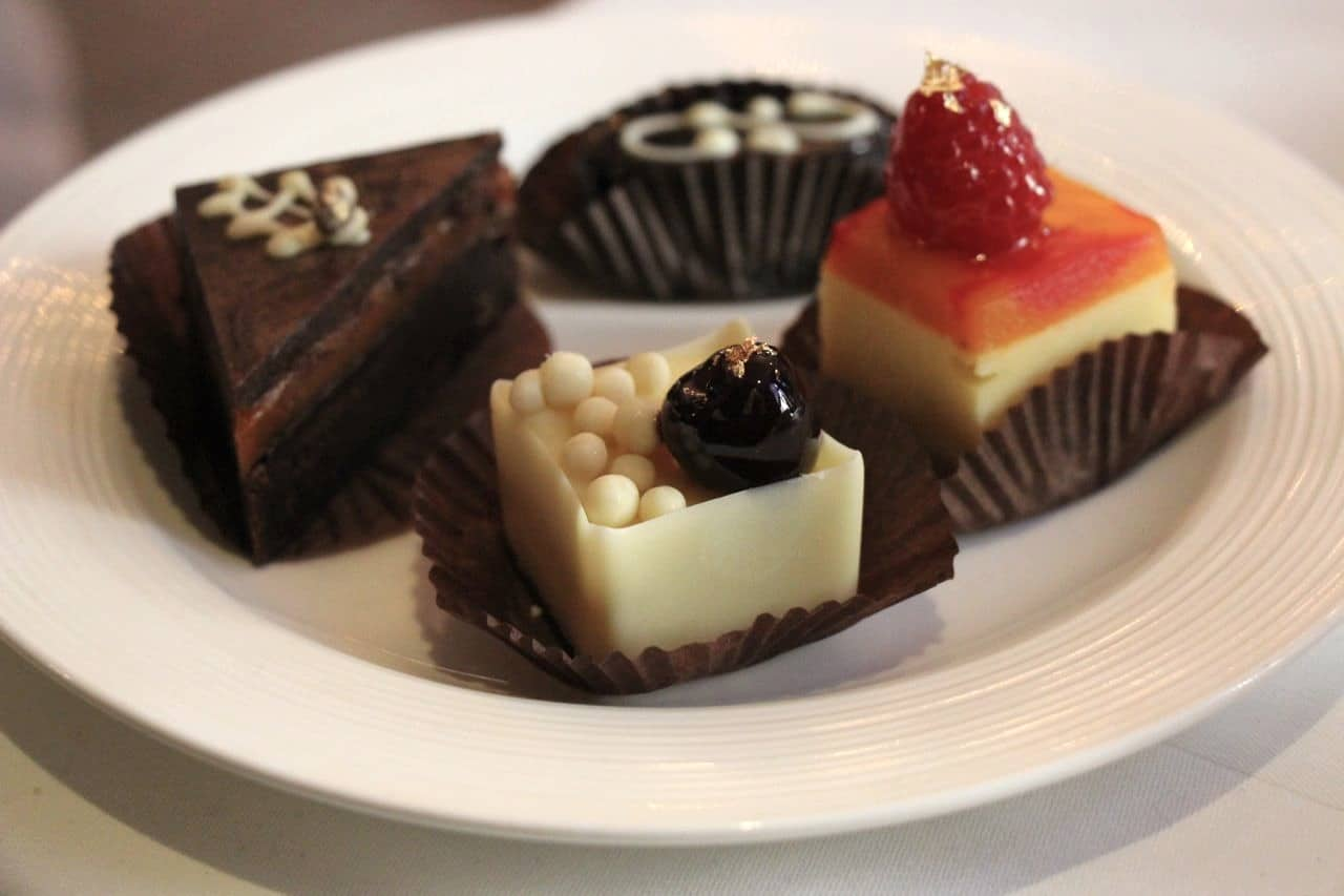 A selection of petite cakes and sweets at Windsor Arms High Tea.